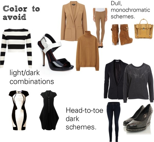 """""""Soft Natural (SN) - Color to avoid"""" by lightspring on Polyvore"""