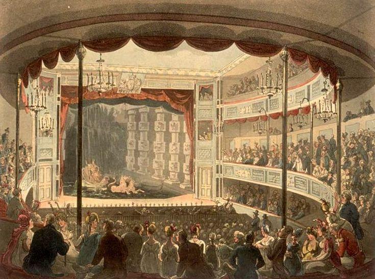 Sadler's Wells Aquatic Theatre, Rowlandson, 1810, Microcosm of London. Read my post about it.