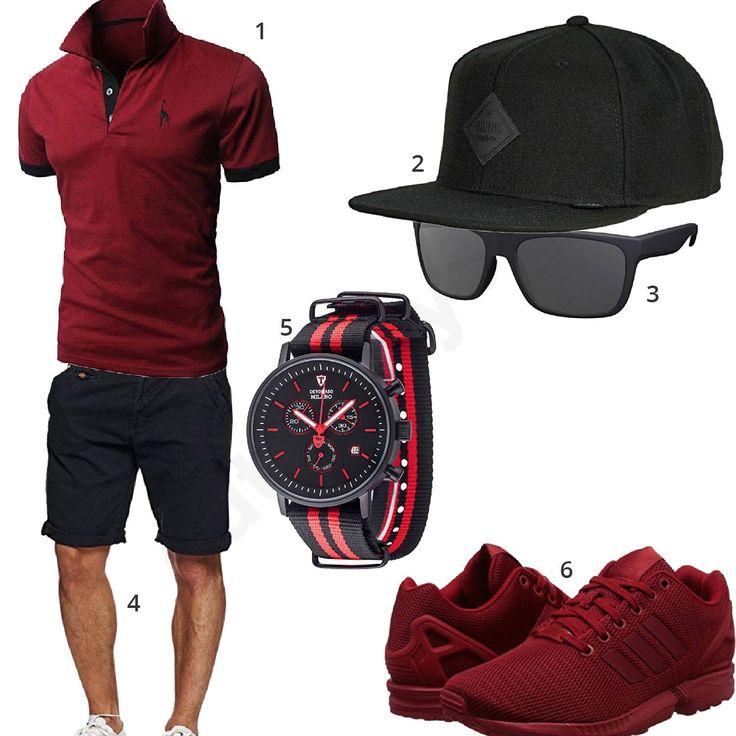Schwarz-Rotes Herren-Style mit Detomaso (m0340