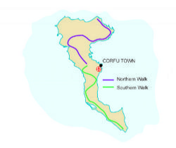 Map of our walking Holidays in Greece - Corfu - Click here to find out more about Greece - Corfu