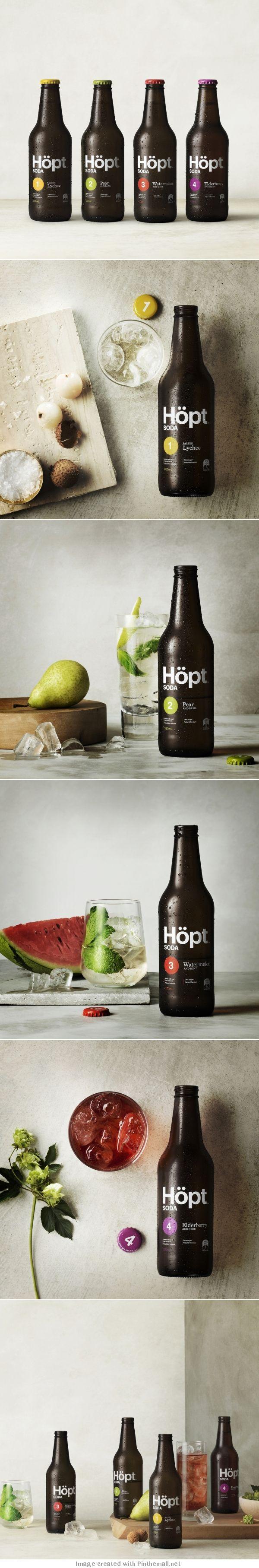 Cool Brand Identity Design. Hopt Soda. #branding #brandidentity [http://www.pinterest.com/alfredchong/]