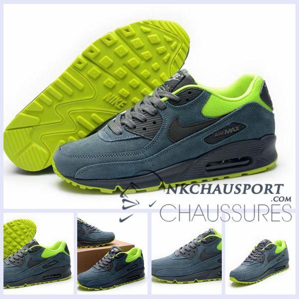 Nike Air Max 90 VT | Meilleur Chaussures Running Homme Daim Grise-2