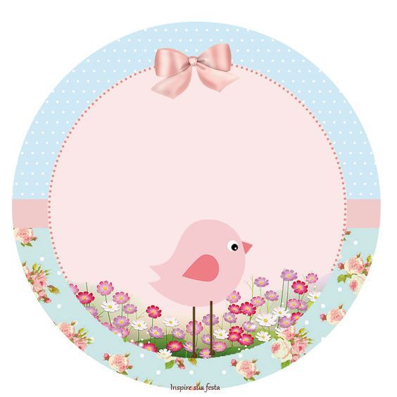 invitaciones para baby shower niña pajarito rosa fondo shabby chic gratis - Buscar con Google