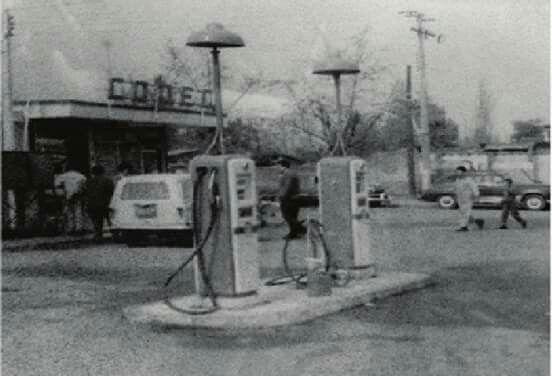 Bomba de bencina pajaritos al lado del estadio