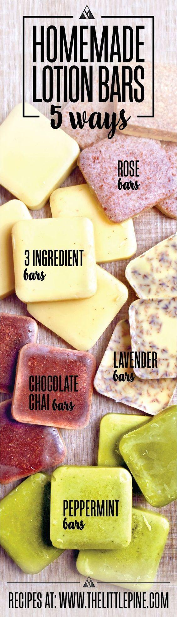 Top 5 Lotion Bar Recipes #naturalsoaprecipes