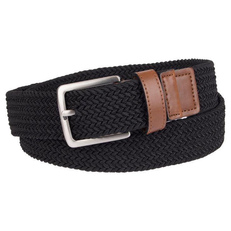 Men's 35mm Stretch Belt - Merona Black M