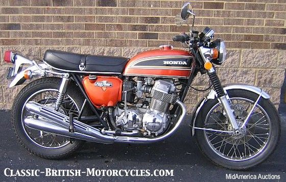 1974 Honda CB750, classic honda motorcycle - I like the tank on this one too