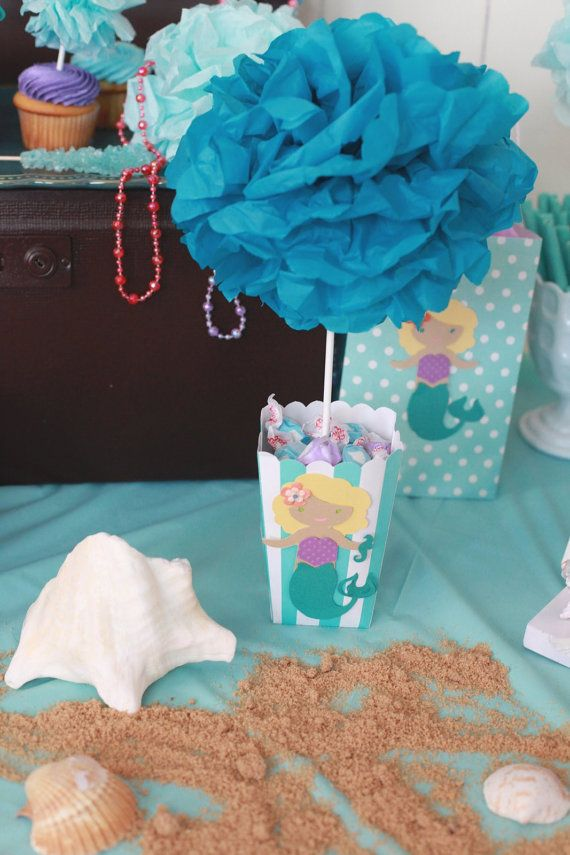 Centerpiece+Under+the+Sea+Mermaid+TREAT++by+LetsCreateTheMemory,+$25.00