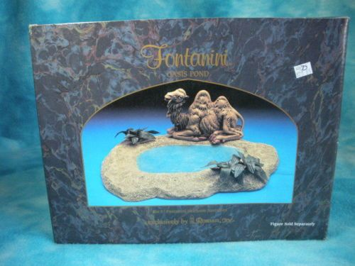 """Fontanini Nativity 5"""" collection Oasis Pond"""