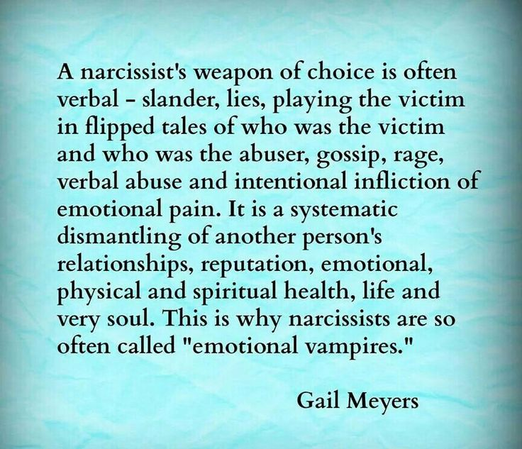 This describes most abusers not only narcissistic ones.