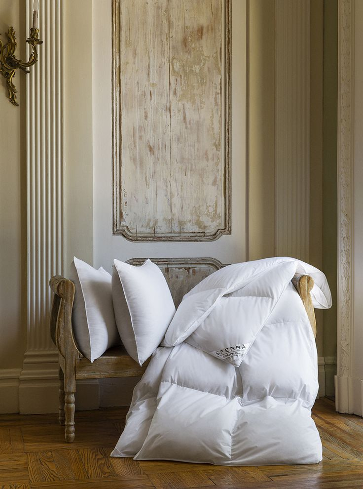Our Cornwall duvets and pillows are expressly filled with our very finest goose down: it's light and airy while bestowing the coziest warmth against the cold.