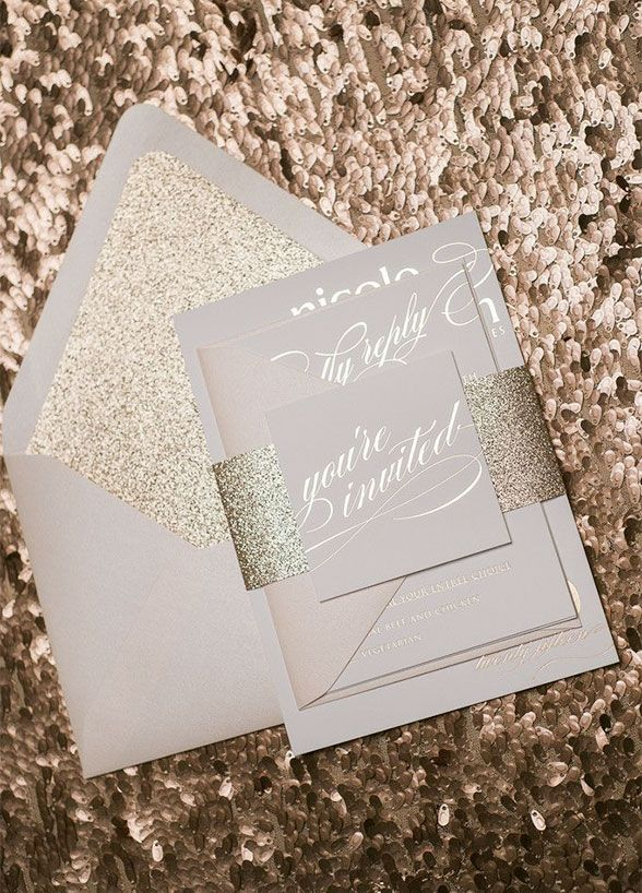 610 best invitations and printed materials images on pinterest wedding invitation get guests excited about your big day from the beginning glittering wedding stopboris Images