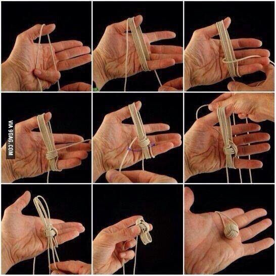 How to tie a Chinese monkey ball. - 9GAG