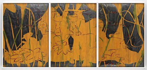 Arturo Herrera Come, 2008 Collage, mixed media, graphite on paper 3 parts: 79.72 x 57.09 inches each 202.5 x 145 cm VIA MORE