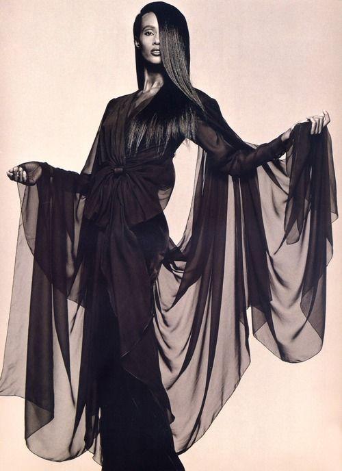 Iman, 1988: Woman Fashion, The Night, Vogue Paris, Andrew Macpherson, Nuit D Iman, Paris 1988, Iman Photographers, Classic Supermodels, 80S Models