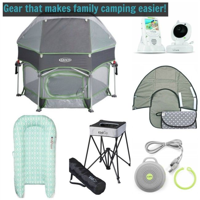 Great list of gear for camping trips with your whole family.