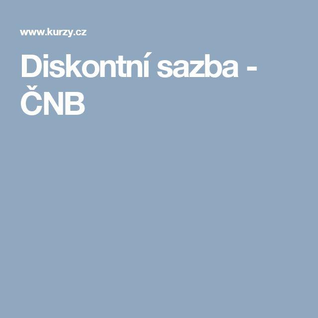 Diskontní sazba - ČNB