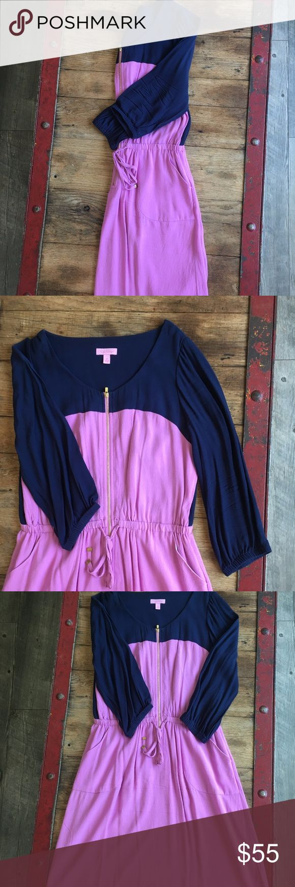 Color Block Drawstring Dress This dress is perfect for a casual day in the office! Pair it with camel riding boots for a classic fall look. Lilly Pulitzer Dresses