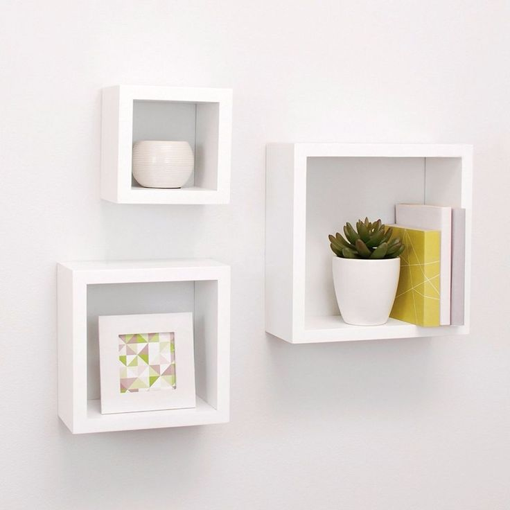 Floating Wall Shelves Cube Boxes Shelves Decor Storage Display Accent  Furniture