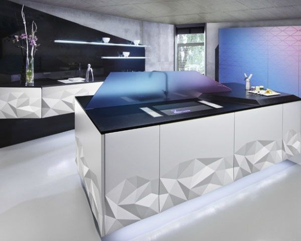 Stunning Artica Kitchen Inspired By Origami