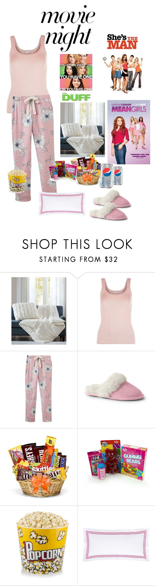 """""""Movie Night"""" by cindy-allaby ❤ liked on Polyvore featuring Madison Park, La Perla, Joules, Lands' End and Pine Cone Hill"""