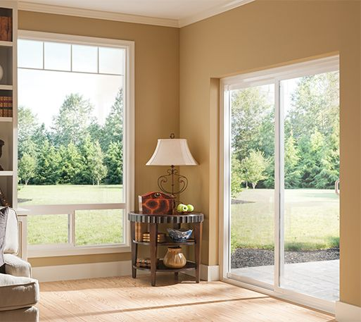We Love The Look Of This Patio Door Window Combination It