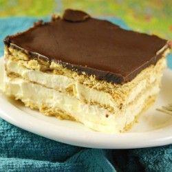 No-Bake Chocolate Eclair Dessert: Playground, Eclairs Cakes, Recipes, Chocolate Eclairs, No Bak Chocolates, Graham Crackers, Nobak, Chocolate Eclair Dessert, Chocolates Eclairs Desserts