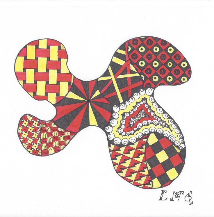 L.N.G. Original Zentangle #8 (colour)