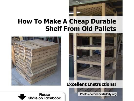 Create Some Valuable Workspace With These Awesome Homemade Shelves Made From Pallet Wood Handy Are Cheap To Make And Of A High Quality