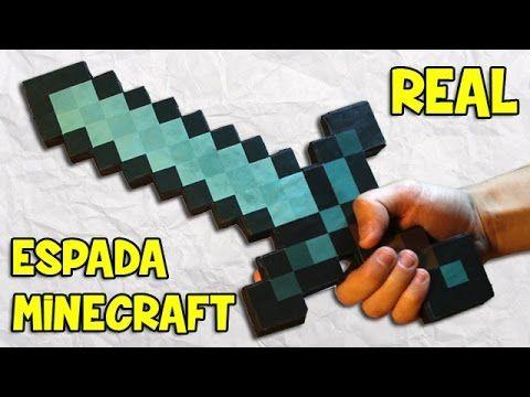 Cómo Hacer la Espada de Minecraft Real Casera| Espada de papel