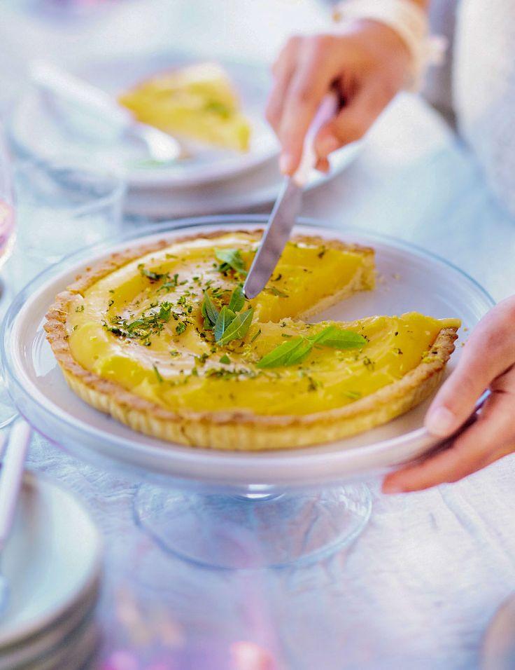 Une idée recette tarte citron verveine :