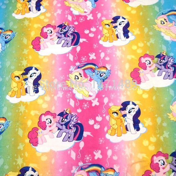 """Cheap Mp007   1 yarda de algodón tejida tela tela   personajes de dibujos animados, My Little pony, arco iris potros ( W105 ), Compro Calidad Telas directamente de los surtidores de China:        Material: 100% algodón                    Anuncio es para                 * Ancho: 105 cm (~ 42 """")"""
