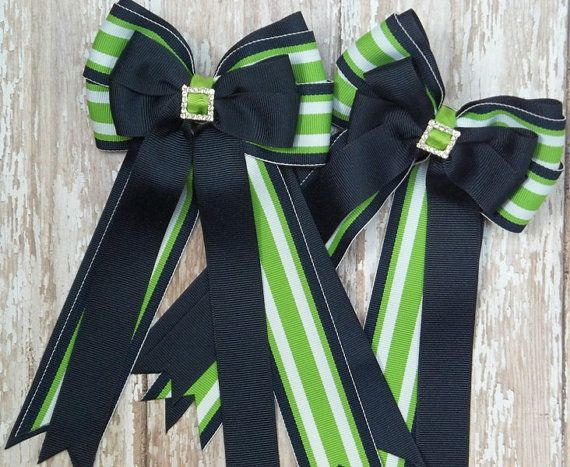 Pony Kid English Horse Show Hair Bows  Horse by TheYoungEquestrian, $24.00