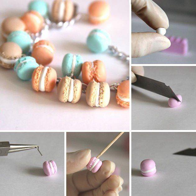 DIY Macarons made of polymer Clay | Лепим французский Macaron из полимерной глины