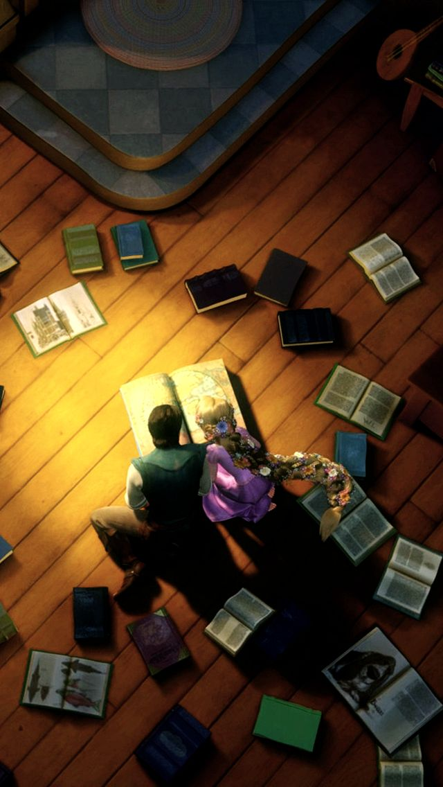 Kingdom Dance from Tangled- aww they're reading together. Most romantic scene in the movie