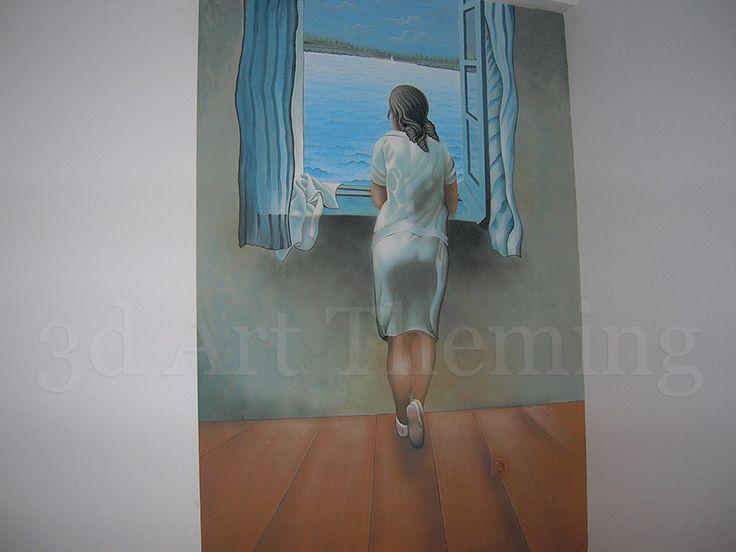 τοιχογραφία σε κρεβατοκάμαρα