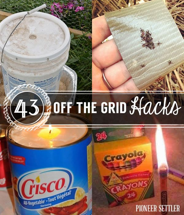 43 Off the Grid Hacks | Frugal Living And Homesteading Ideas by Pioneer Settler http://pioneersettler.com/off-the-grid-hacks/