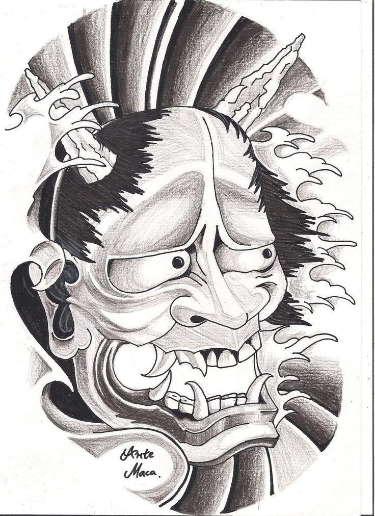 Hannya Mask By Mcxr Designs Interfaces Tattoo Design 2010 2012 A