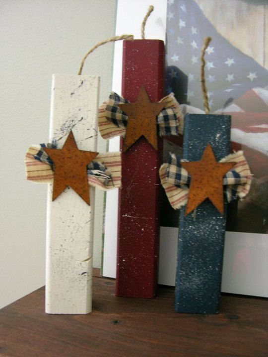 Primitive Americana 4th of July wooden by KatieBugsCrafts on Etsy, $10.95