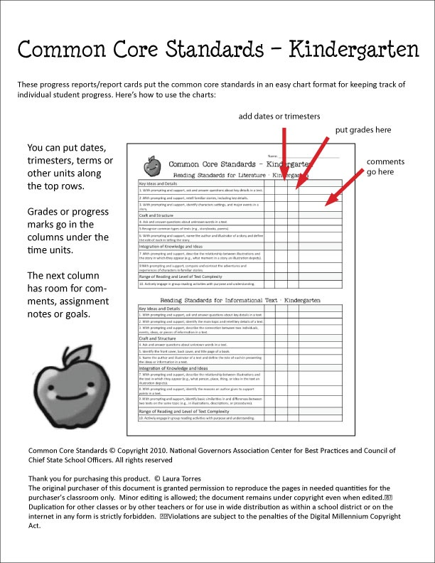 40 best Common Core report cards images on Pinterest Report - progress report card template