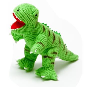 £12.99 Knitted T Rex Dinosaur www.borngifted.co.uk