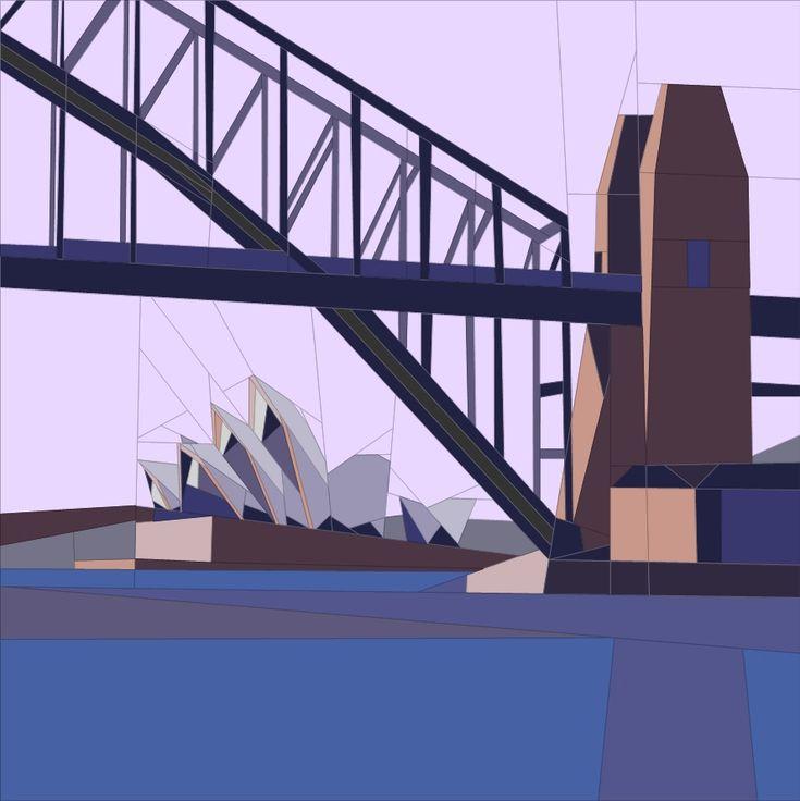 Sept. BOM - Sydney, Aus Paper Piecing Patterns quiltartdesigns.blogspot.com