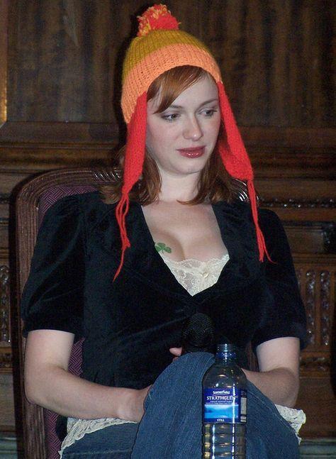 Christina Hendricks who played Saffon in 2 episodes of Firefly wearing Jayne Cobb's hat. Shiny!! Ü