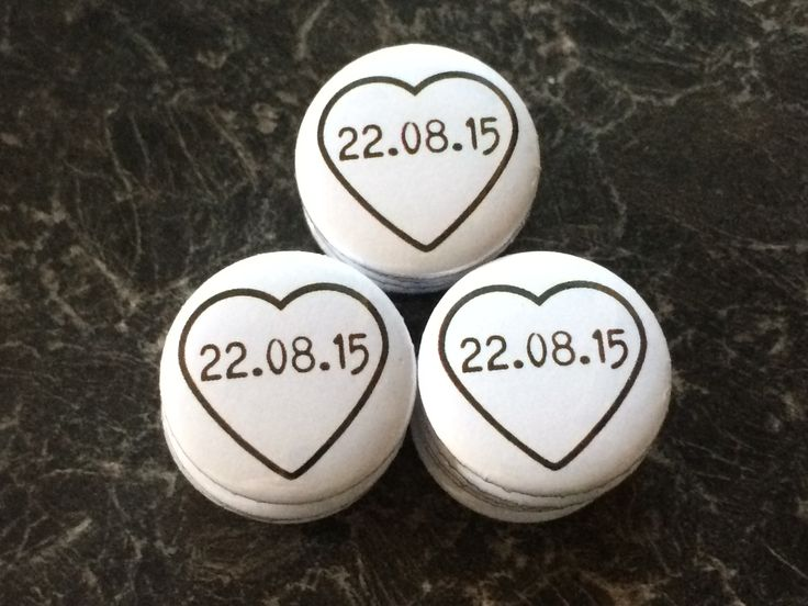 Remember your special day with these 25mm wedding fridge magnets - savethedate - save the date