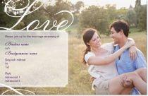kärlek Inbjudningskort