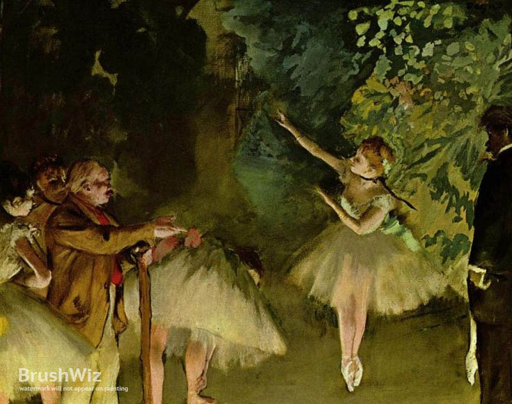 Ballet Rehearsal by Edgar Degas - Oil Painting Reproduction - BrushWiz.com