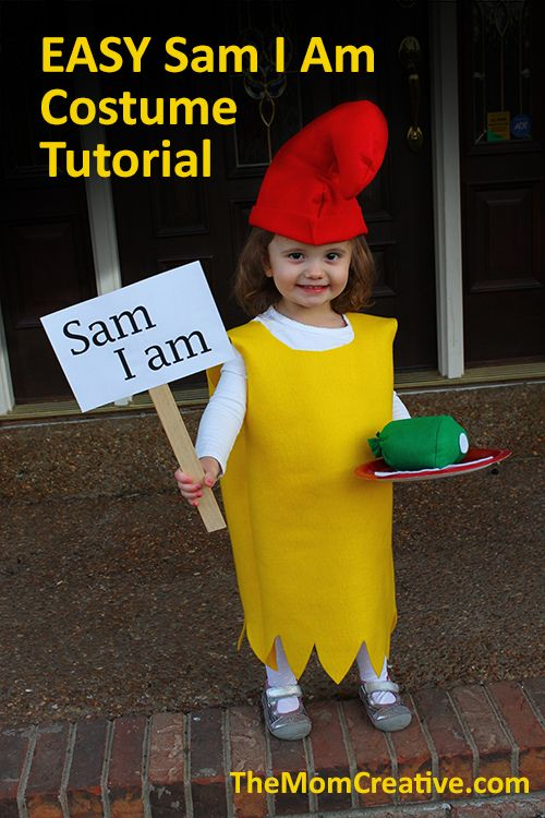 OMG! Easy Sam I Am Costume tutorial with video! I love kids' Halloween costumes inspired by classic children's books <3