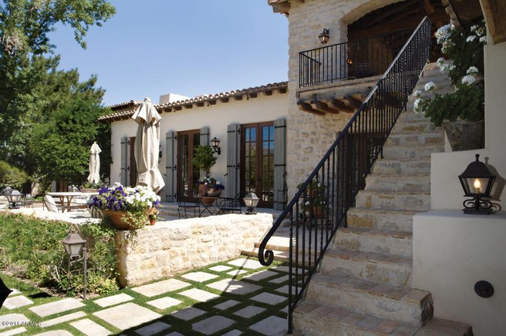 95 best spanish styles homes images on pinterest for Spanish style exterior
