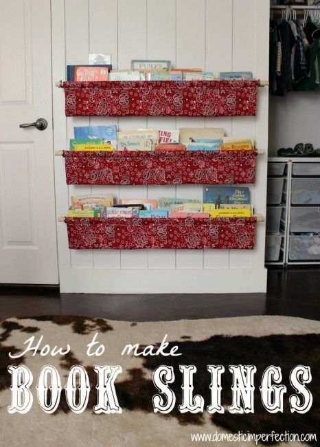 These hold a ton of books and are easy to make! She made these for her children.  This would be a really cute alternative to a bookcase in a classroom. Great for a reading area!