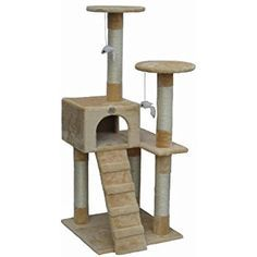 http://Amazon.com : Go Pet Club Cat Tree Furniture Beige : Cat Towers : Pet Supplies http://petplaybale.com/cats-beds-furniture-buyers-guide.html